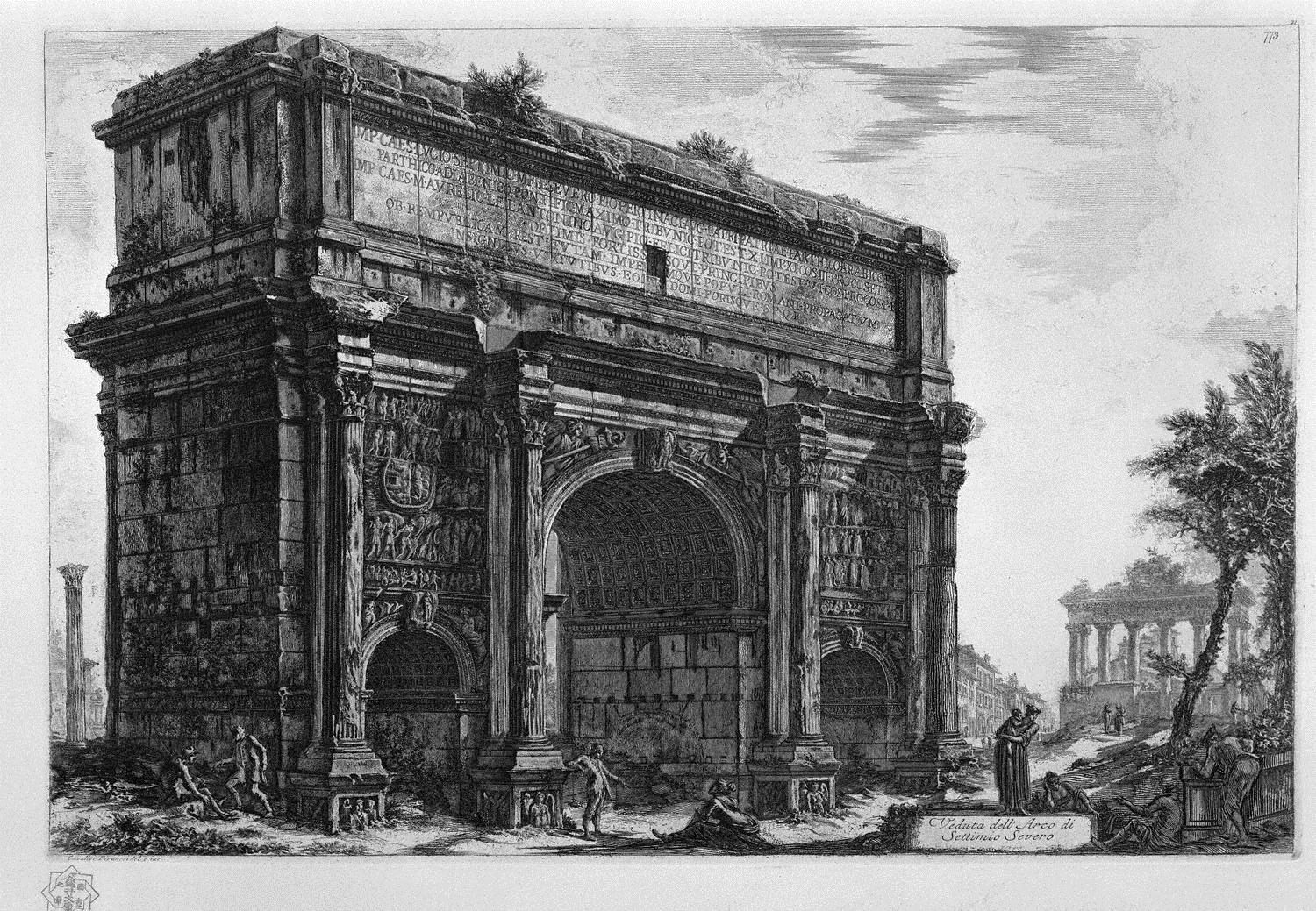 view-of-the-arch-of-septimius-severus.jp