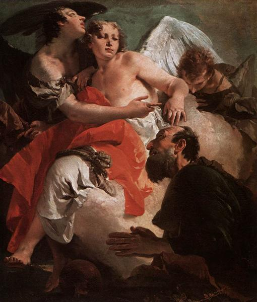 Abraham and the Three Angels, c.1730 - Giovanni Battista Tiepolo