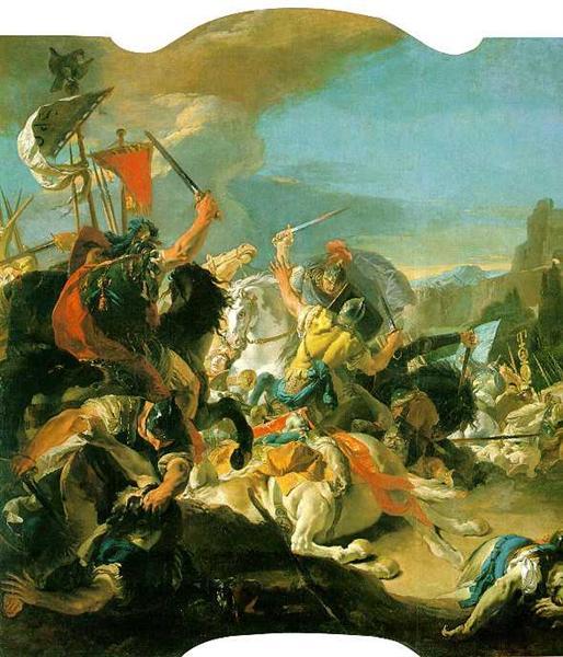 Battle of Vercellae, 1725 - 1729 - Giovanni Battista Tiepolo