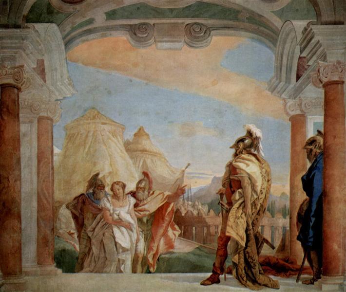 Eurybates and Talthybios Lead Briseis to Agamemmon, 1757 - Giovanni Battista Tiepolo