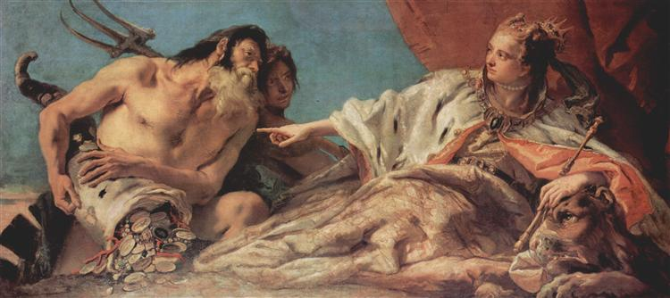 Neptune Offering Gifts to Venice, 1748 - 1750 - Giovanni Battista Tiepolo
