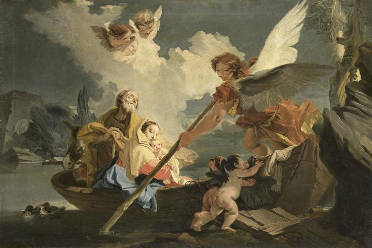 The Flight to Egypt - Giovanni Battista Tiepolo