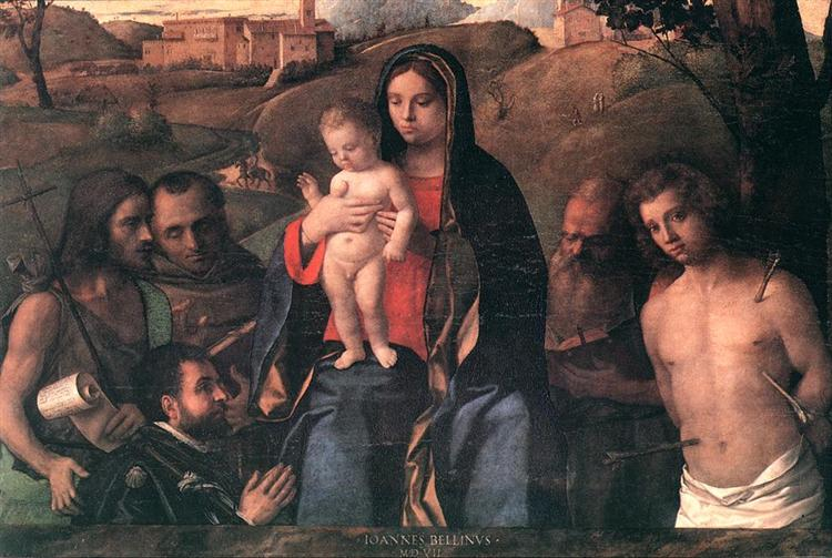 Madonna and Child with Saints and a Donor, 1507 - Giovanni Bellini