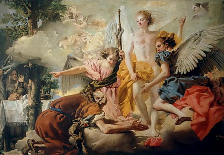 Abraham and the Three Angels - Giovanni Domenico Tiepolo