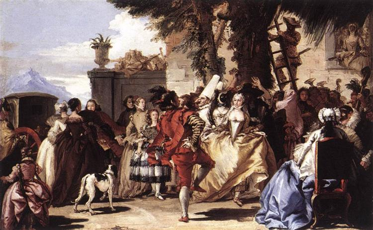 Ball in the Country, c.1756 - Giovanni Domenico Tiepolo