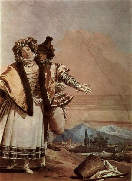The Declaration of Love, 1757 - Giovanni Domenico Tiepolo