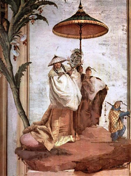 The Mandarin's Walk, from the Chinese Room in the Foresteria, 1757 - Giovanni Domenico Tiepolo