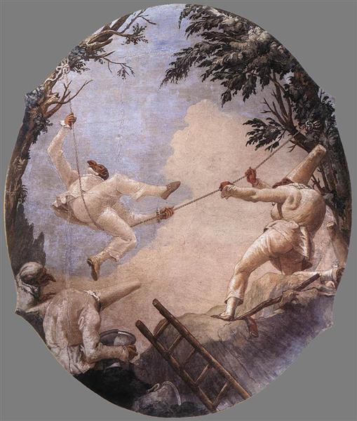 The Swing of Pulcinella, 1791 - 1793 - Джованни Доменико Тьеполо