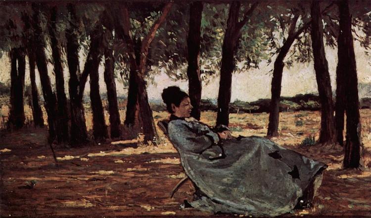 Frau Martelli in Castiglioncello, 1870 - Джованні Фатторі