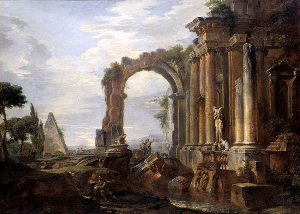 Capriccio Of Classical Ruins 1730 Giovanni Paolo Panini