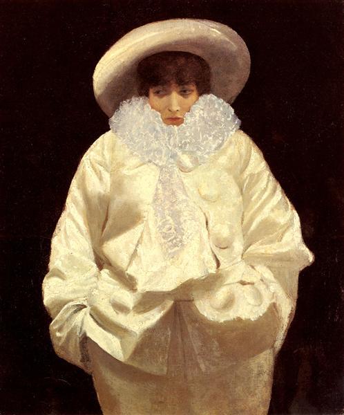 Sarah Bernhardt as Pierrot - Giuseppe de Nittis