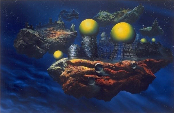 The Pornography of Death (painting for Ian Curtis, after Chris Foss), 1995