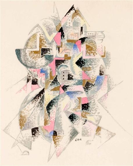 Komposition, 1917 - Gosta Adrian-Nilsson