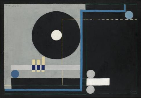 Konstruktion på svart, 1930 - Gosta Adrian-Nilsson