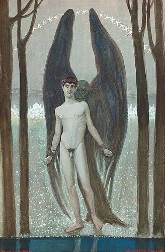 Young man with death, 1908 - Gosta Adrian-Nilsson