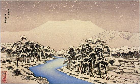 Mt. Ibuki in Snow, 1920 - Goyo Hashiguchi