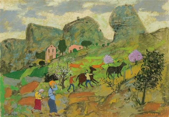 Shepherds in the valley, 1981 - Grégoire Michonze