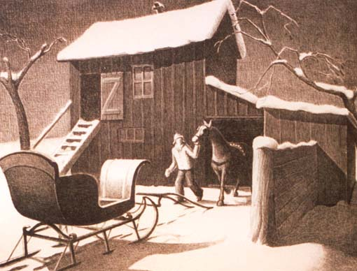 December Afternoon, 1940 - Grant Wood
