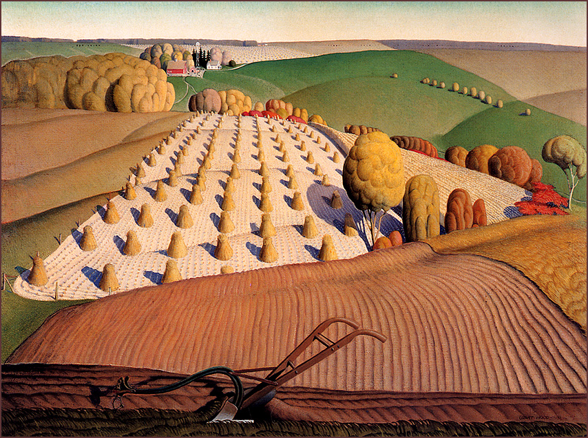 a biography of grant wood Grant wood's american gothic by elizabeth wood submitted american gothic—the name a nod to the house's architectural style—to a 1930 competition at the.