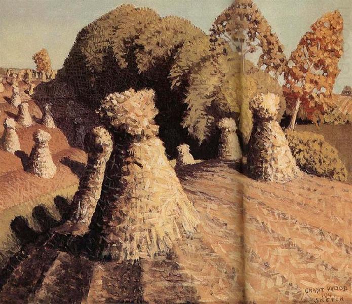 Iowa's corn field, 1941 - Grant Wood