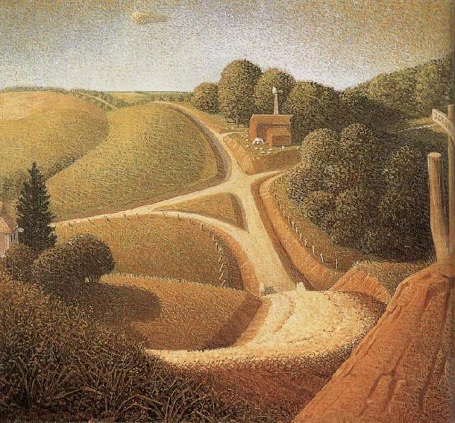 New Road, 1939 - Grant Wood