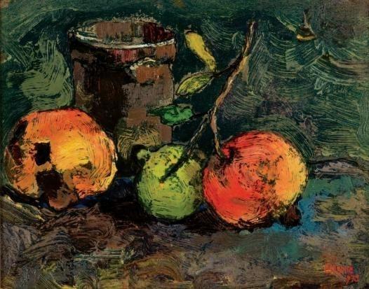 Three Pomegranates - Gregoire Boonzaier