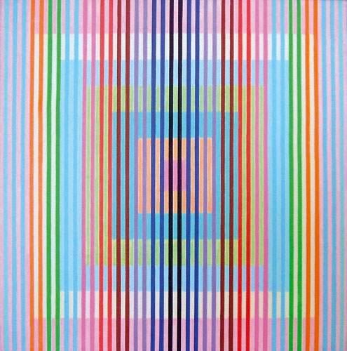 Chromographie x4: Graphisme chromatique sur carrés, 1974 - Gregorio Vardanega