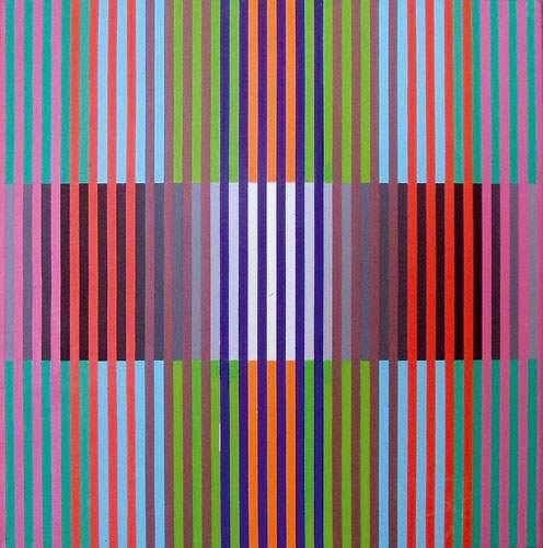 Chromographie x6: Graphisme chromatique sur carrés, 1975 - Gregorio Vardanega