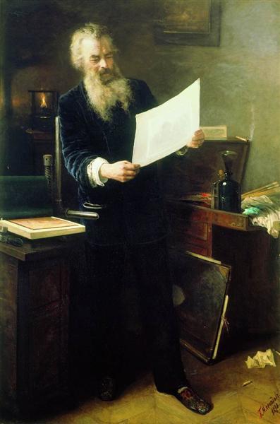 Portrait of Shishkin, 1891 - Grigoriy Myasoyedov