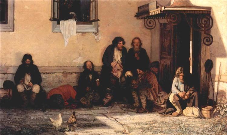 Zemstvo is having their lunch, 1872 - Grigoriy Myasoyedov