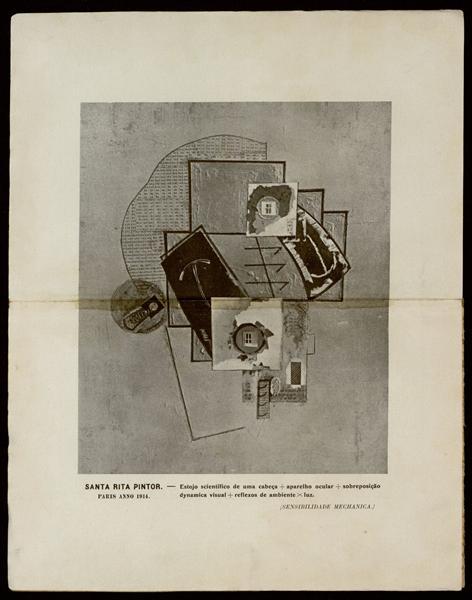 Estojo scientífico de uma cabeça + aparelho ocular + sobreposição dynamica visual + reflexos de ambiente x luz (SENSIBILIDADE MECHANICA), 1914 - Guilherme de Santa-Rita