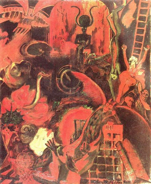 Orfeu nos Infernos (detail), 1904 - Guilherme de Santa-Rita