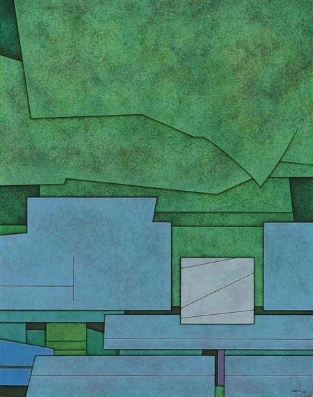 Verde-azul-blanco, 1978 - Гюнтер Герцо