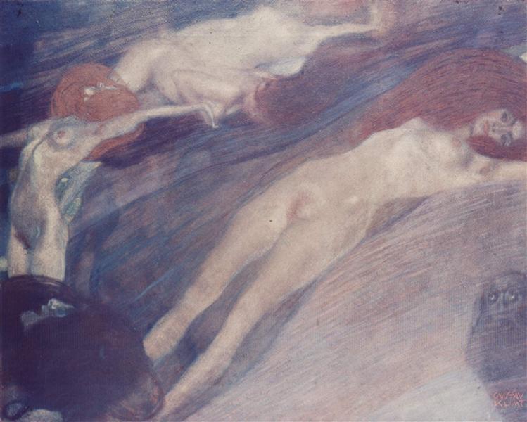 Bewegte Wasser, 1898 - Gustav Klimt