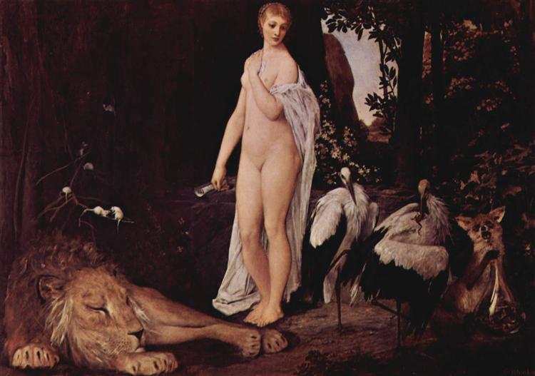 Fable, 1883 - Gustav Klimt