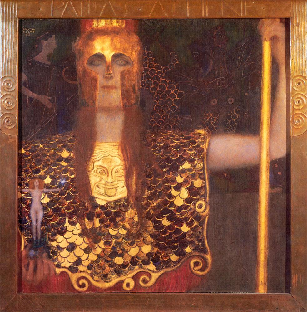 Minerva or Pallas Athena - Gustav Klimt