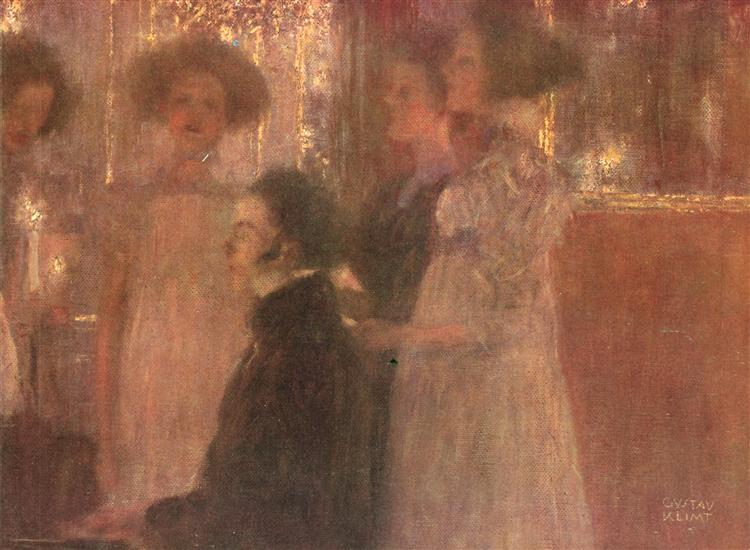 Schubert at the piano I, c.1896 - Gustav Klimt