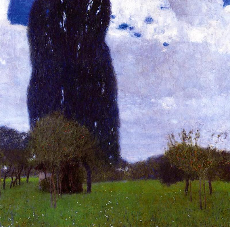 The Tall Poplar Trees II, 1900