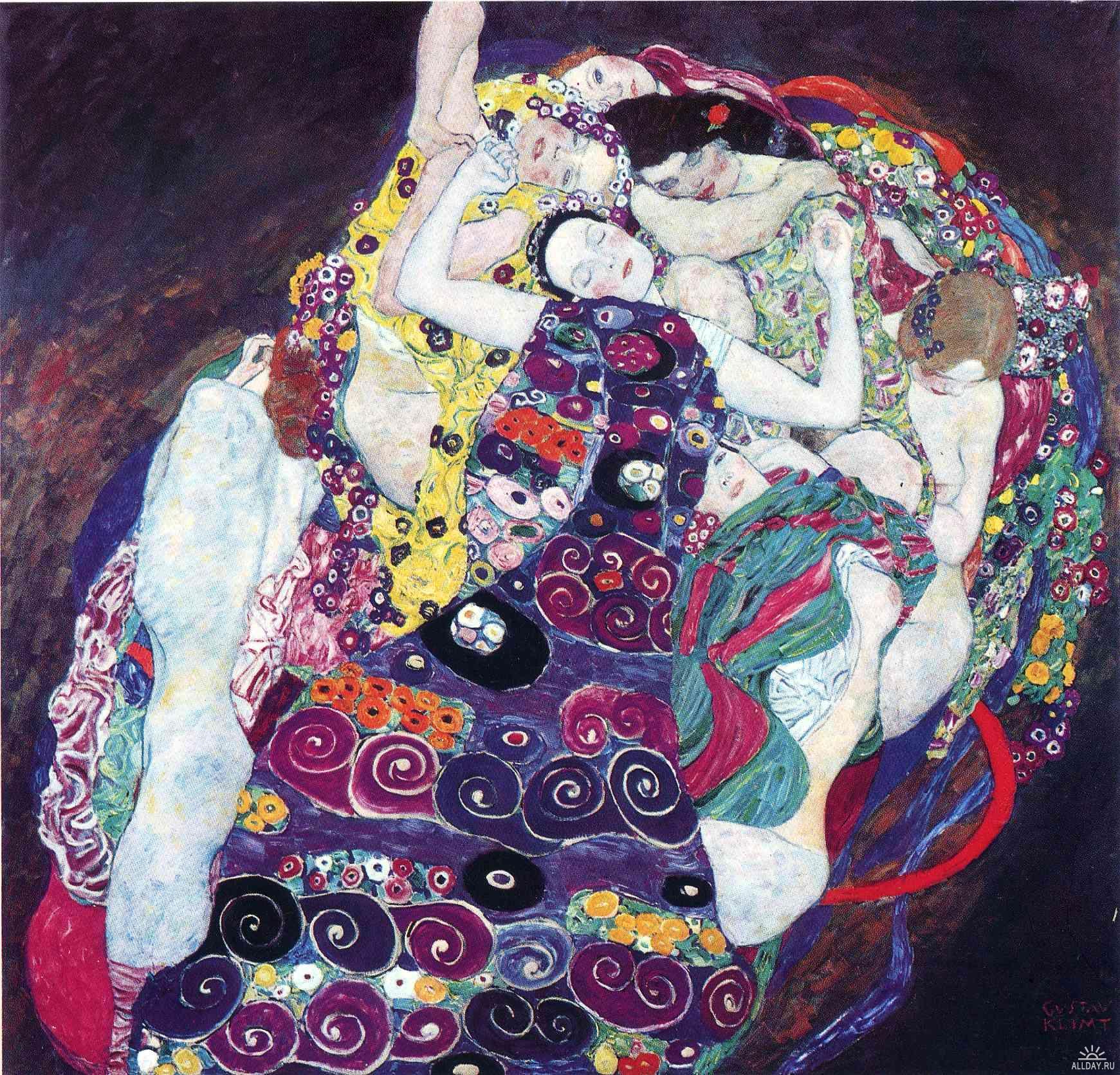 The Virgin 1913 Gustav Klimt Wikiart Org