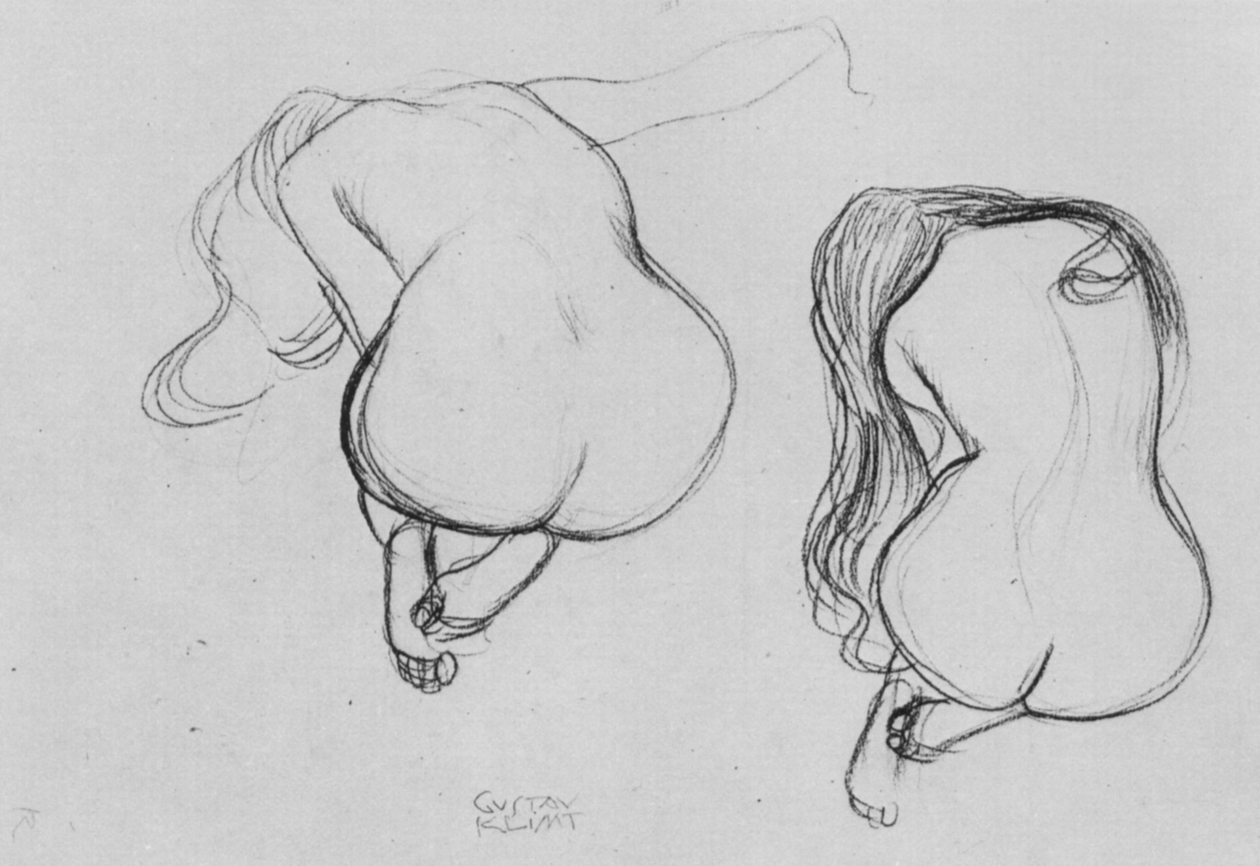 Two Studies of Sitting Nudes, 1901-1902