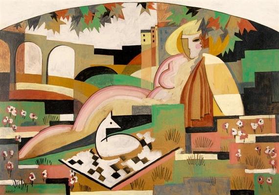Nu et composition, 1929 - Gustave Buchet