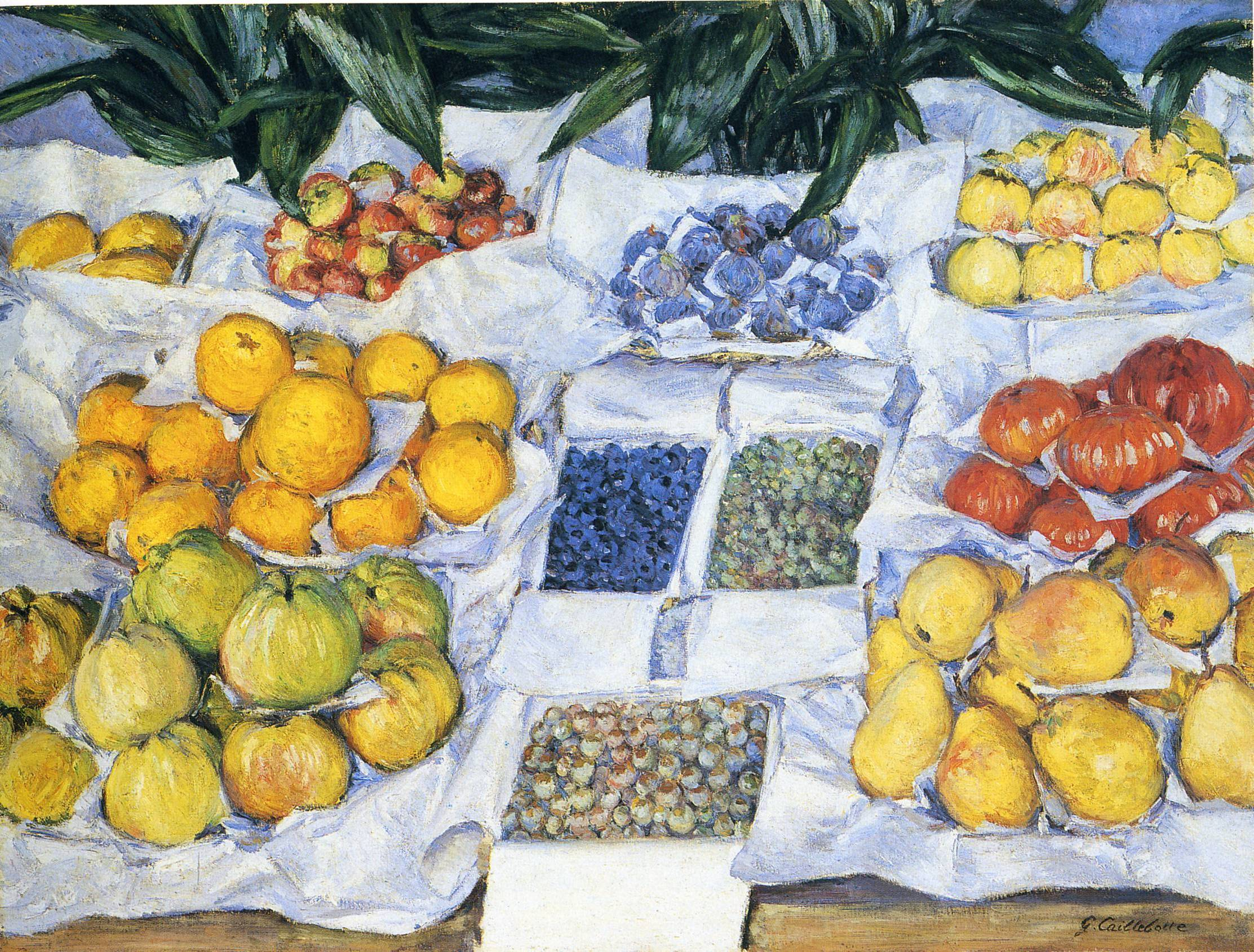 Fruit Displayed on a Stand, 1881-1882