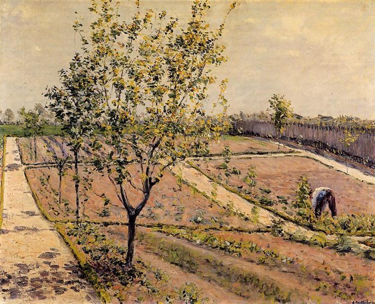Kitchen Garden, Petit Gennevilliers, 1882 - Gustave Caillebotte