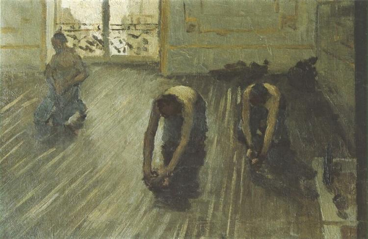 Study for 'The Parquet Planers', 1875 - Gustave Caillebotte