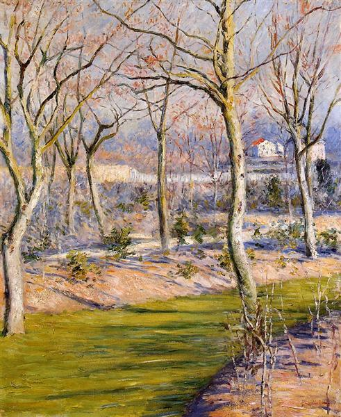 The Garden at Petit Gennevilliers in Winter, c.1894 - Gustave Caillebotte