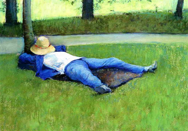 The Nap, 1877 - Gustave Caillebotte