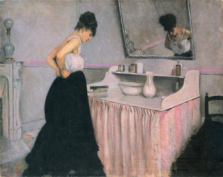 Woman At A Dressing Table C 1873 Gustave Caillebotte