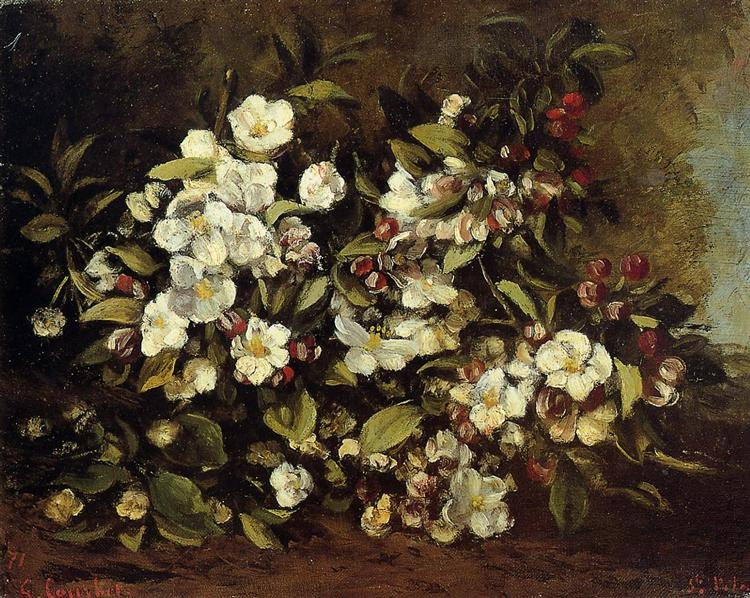 Branch of apple blossoms, 1871 - Gustave Courbet