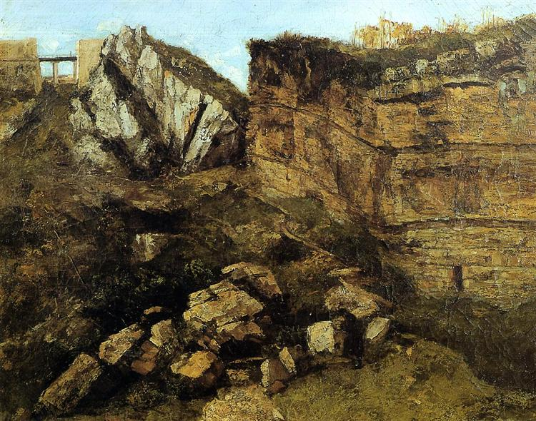 Crumbling Rocks, 1864 - Gustave Courbet