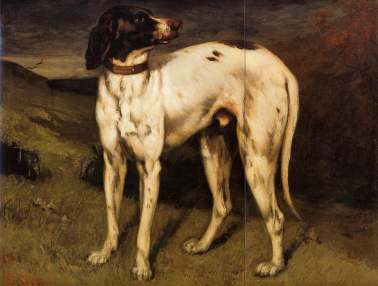 Dog from Ornans, 1856 - Gustave Courbet